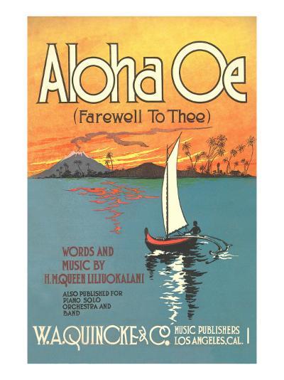 Sheet Music to Aloha Oe--Art Print