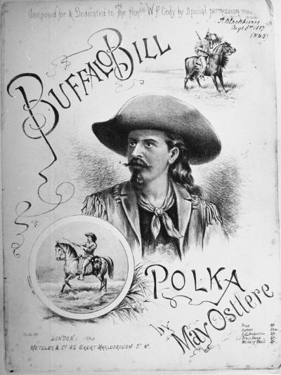 "Sheet Music to ""Buffalo Bill Polka"" Composed, Dedicated to William Frederick Cody American Scout--Photographic Print"