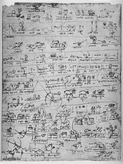 'Sheet of Pictographs', c1480 (1945)-Leonardo da Vinci-Giclee Print