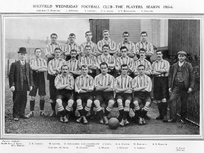 Sheffield Wednesday Fc Team Picture for the 1905-1906 Season--Photographic Print