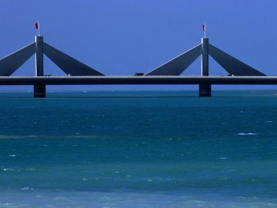 Sheikh Isa Bin Sulman Causeway Manama, Al Manamah, Bahrain-Phil Weymouth-Photographic Print