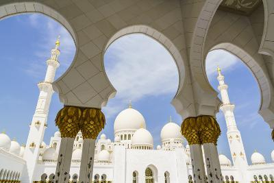 Sheikh Zayed Grand Mosque, Abu Dhabi, United Arab Emirates, Middle East-Fraser Hall-Photographic Print