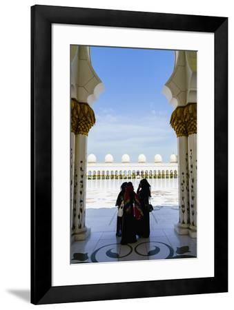 Sheikh Zayed Grand Mosque, Abu Dhabi, United Arab Emirates, Middle East-Fraser Hall-Framed Photographic Print