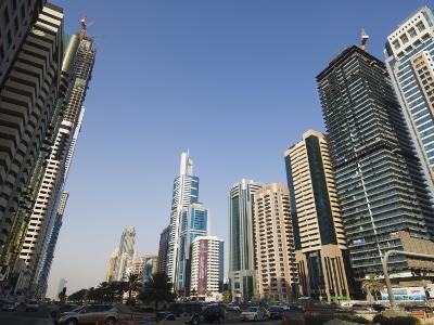 Sheikh Zayed Road, Dubai, United Arab Emirates, Middle East-Amanda Hall-Photographic Print