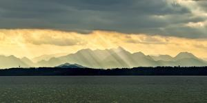 Chiemsee, Germany, Sunrays Through Clouds after Storm by Sheila Haddad