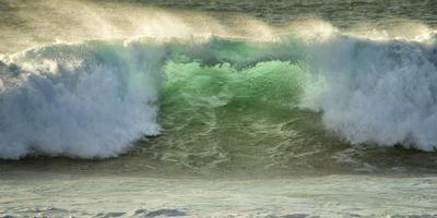 Crashing Waves, Carmel, Ca, USA, Green Translucence