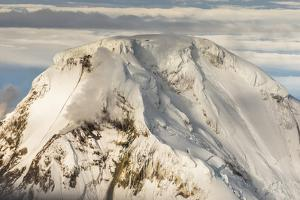 Iliamna Volcano Rising Up in Aleutian Mountain Range of Alaska by Sheila Haddad