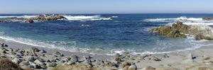 Panorama of Waves Along Monterey Peninsula, California Coast by Sheila Haddad