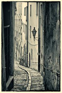 Passau, Germany, Narrow Alleyway of Historic Village, Vintage Look by Sheila Haddad