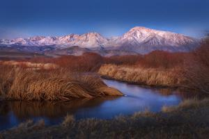 Sunrise in the Eastern Sierra Nevada Mountains by Sheila Haddad