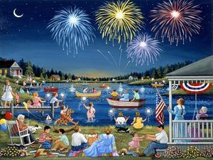 Lakeside on the Fourth by Sheila Lee
