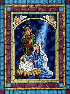 Stained Glass Nativity by Sheila Lee