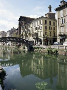 Canal at Porta Ticinese, Naviglio Grande, Milan, Lombardy, Italy by Sheila Terry