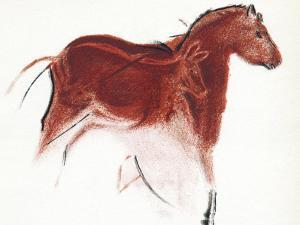 Cave Painting of Horse And Hind, Artwork by Sheila Terry
