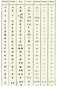Development of the English Alphabet by Sheila Terry