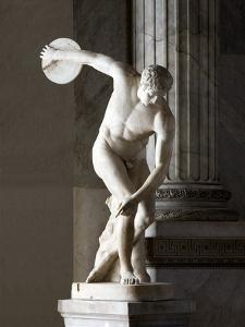 Discus Thrower Statue by Sheila Terry