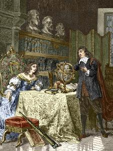Rene Descartes And Queen Christina by Sheila Terry