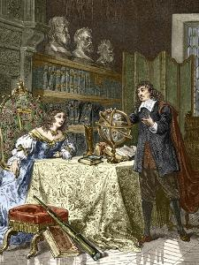 Rene Descartes And Queen Christina by Sheila Terry