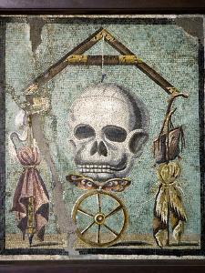 Roman Memento Mori Mosaic by Sheila Terry