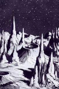 Surface of the Moon, Historical Artwork by Sheila Terry