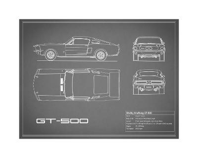 Shelby Mustang GT500-Grey-Mark Rogan-Giclee Print