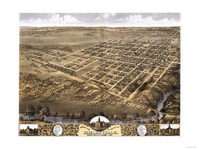 Shelbyville, Illinois - Panoramic Map-Lantern Press-Art Print