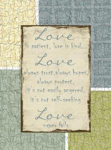 Love Is Patient by Sheldon Lewis