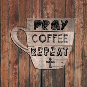 Pray Coffee Repeat by Sheldon Lewis