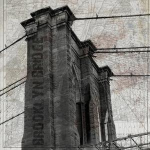 Vintage Brooklyn Bridge by Sheldon Lewis