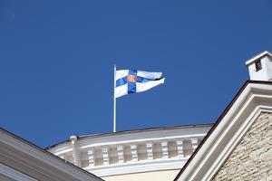 Flag, Tallin, Estonia, 2011 by Sheldon Marshall