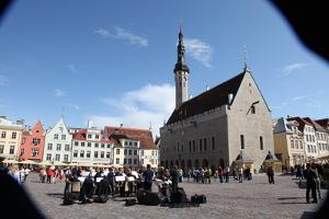 Outdoor Concert in Town Hall Square, Tallin, Estonia, 2011 by Sheldon Marshall