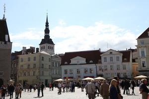 Town Hall Square and St Nicholas' Church, Tallinn, Estonia, 2011 by Sheldon Marshall