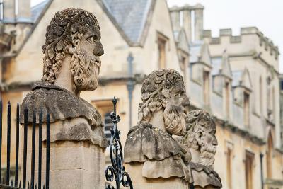 Sheldonian Statues. Oxford,  England-Arsty-Photographic Print