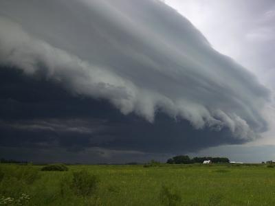 Shelf Cloud, Minnesota, USA-Clint Farlinger-Photographic Print