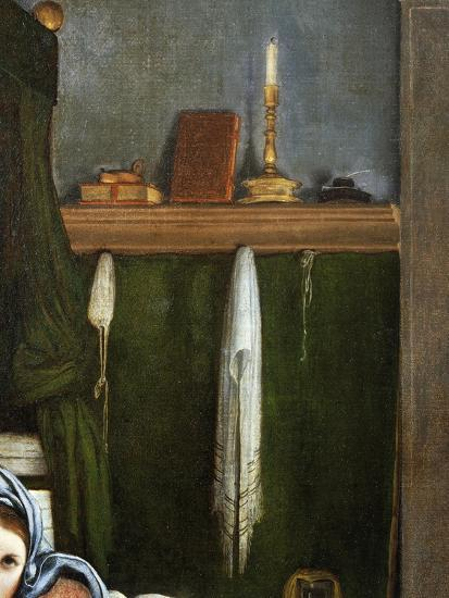 Shelf with Candelabra and Books, Detail from the Annunciation, Ca 1434-Lorenzo Lotto-Giclee Print