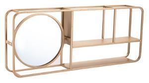 Shelf with Mirror Gold