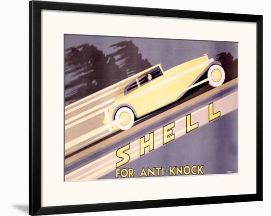 Shell, Anti-Knock- Yunge-Framed Giclee Print