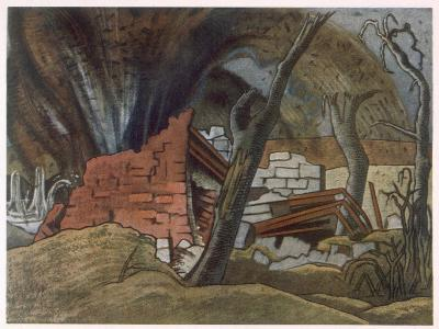 Shell Bursting, British Artists at the Front, Continuation of the Western Front, Nash, 1918-Paul Nash-Giclee Print