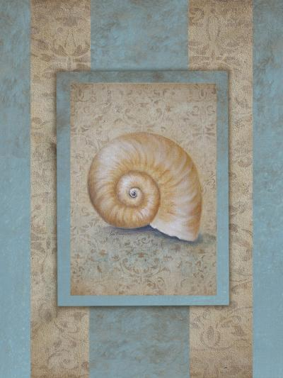 Shell & Damask Stripe I-Rita Broughton-Art Print