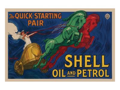 Shell Oil and Petrol--Art Print