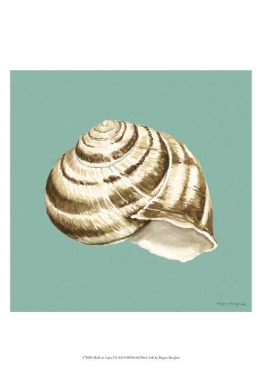 Shell on Aqua I-Megan Meagher-Art Print