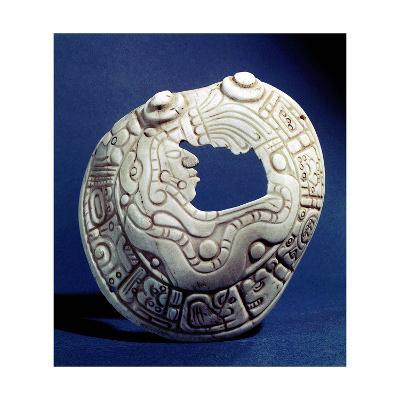 Shell Pendant with Head of a Mayan Dignitary--Giclee Print