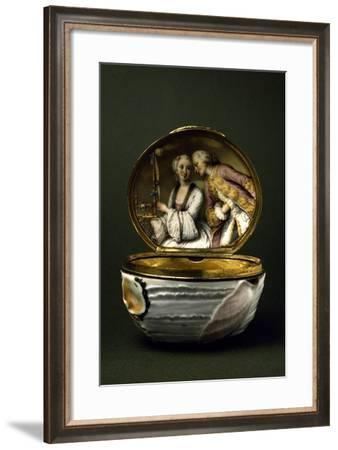 Shell-Shaped Snuffbox, 1750, Porcelain, Capodimonte Factory in Naples, Italy--Framed Giclee Print