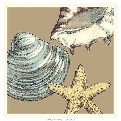 Shell Trio on Khaki IV-Megan Meagher-Art Print