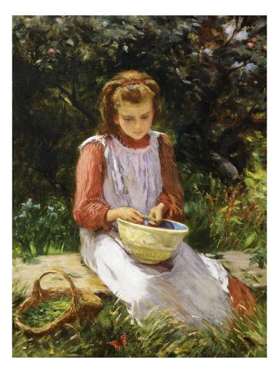 Shelling Peas-William Banks Fortescue-Giclee Print