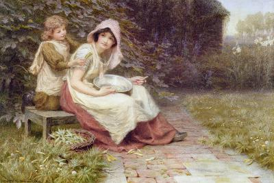Shelling Peas-Constance Phillott-Giclee Print