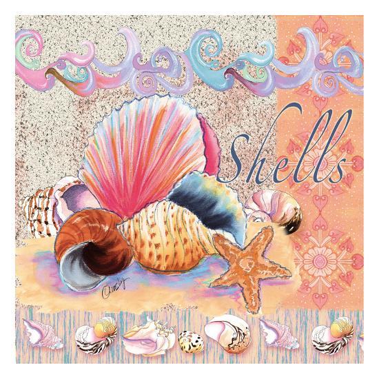 Shells Tile-Anne Ormsby-Art Print