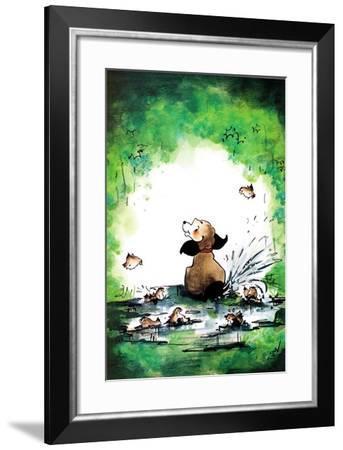 Shelter from the Rain - Jack & Jill-Barbara Yeagle-Framed Giclee Print