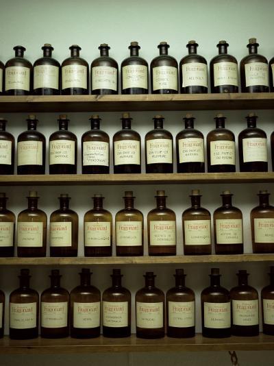 Shelves of Old Essence Bottles, Parfumerie Fragonard, Grasse, Alpes Maritimes, Provence, France-Christopher Rennie-Photographic Print