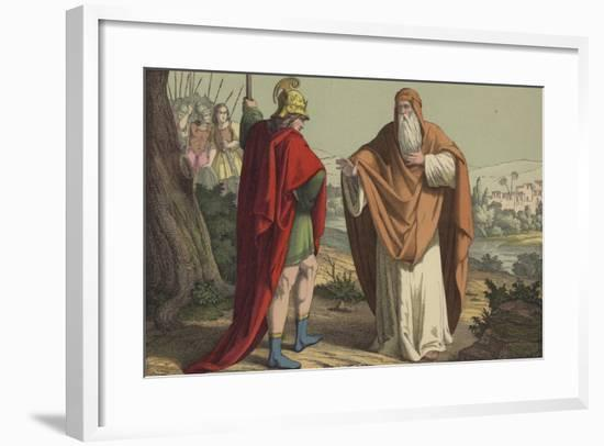 Shemaiah Delivering the Message to Rehoboam--Framed Giclee Print